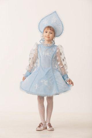 Батик Костюм карнавальный для девочки Снегурочка цвет голубой размер 40