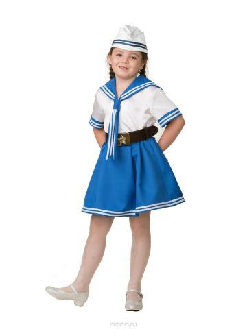 Батик Костюм карнавальный для девочки Морячка размер 34
