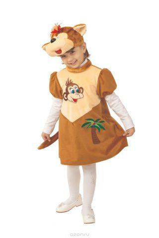 Батик Костюм карнавальный для девочки Обезьянка Лиана размер 26-28