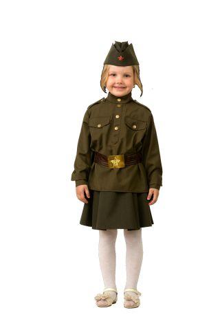 Батик Костюм карнавальный для девочки Солдатка размер 34