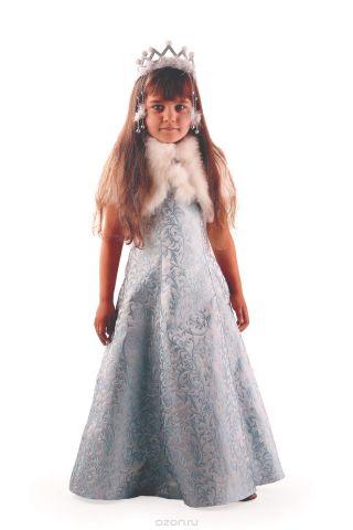 Батик Костюм карнавальный для девочки Снегурочка Жемчужная размер 34