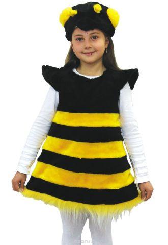 Батик Костюм карнавальный для девочки Пчелка цвет черный желтый размер 28