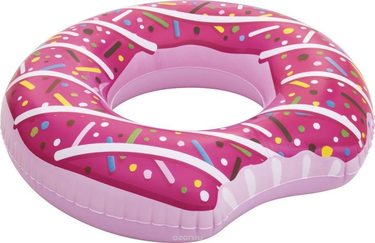 Bestway Круг для плавания Пончик цвет розовый