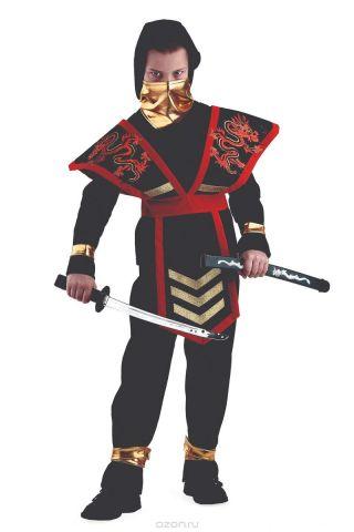Батик Костюм карнавальный для мальчика Мастер Ниндзя цвет красный размер 32