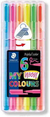 Staedtler Набор фломастеров Triplus Color Неоновые цвета 6 цветов