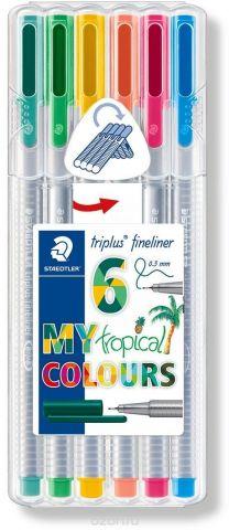 Staedtler Набор капиллярных ручек Triplus Liner Тропические цвета 6 цветов