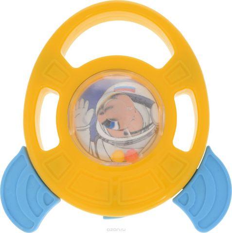 Пластмастер Погремушка-грызунок Ракета цвет желтый