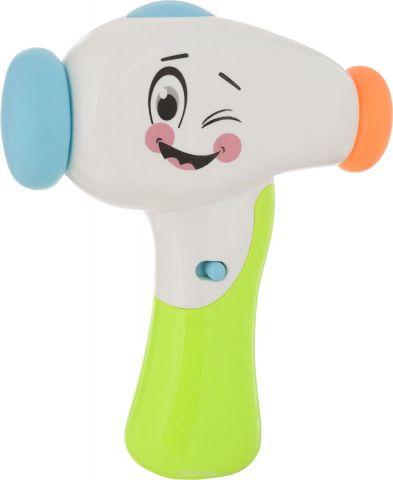 BebeLino развивающая игрушка Молоточек Изучай Звуки цвет белый салатовый