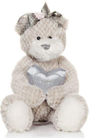 Maxitoys Мягкая игрушка Мишка Белла с сердечком 23 см