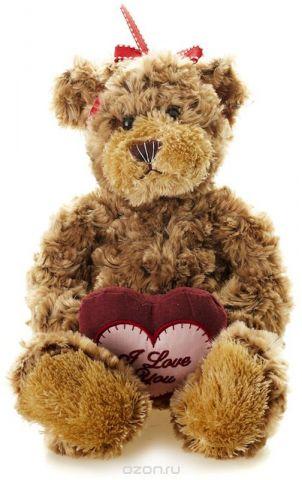 Maxitoys Мягкая игрушка Мишка Рита с сердцем 23 см