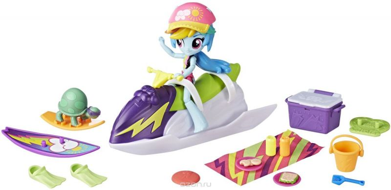 My Little Pony Equestria Girls Игровой набор с мини-куклой Rainbow Dash Sporty Beach Set