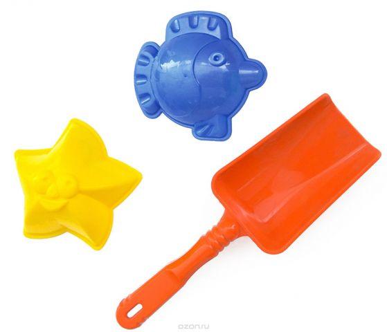 Игрушки Поволжья Набор для песочницы 2 формочки и лопатка 16,5 см