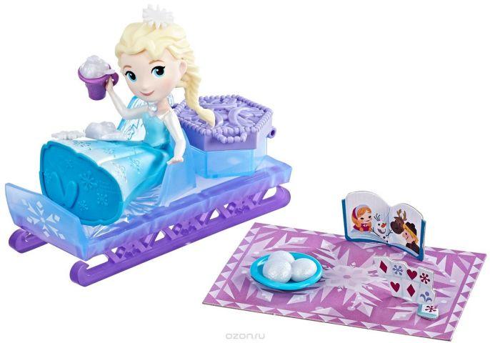 Disney Frozen Мини-кукла Эльза и сани
