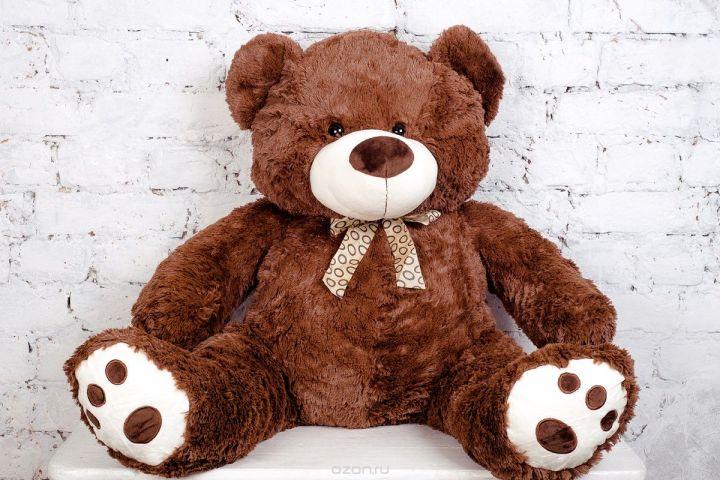 Плюш Ленд Мягкая игрушка Медведь Амиго 85 см