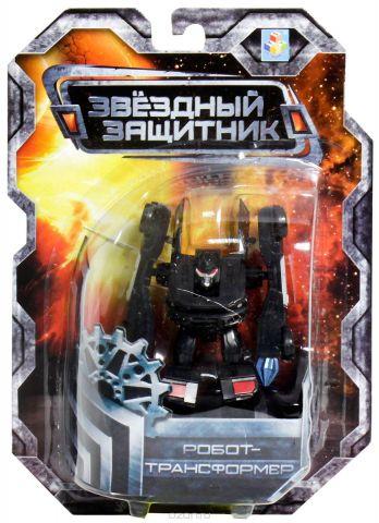 1TOY Робот-трансформер Звездный защитник полицейский автомобиль 7 см