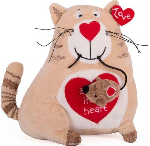 Gulliver Мягкая игрушка Кот и мышь Любовь с первого взгляда 20 см