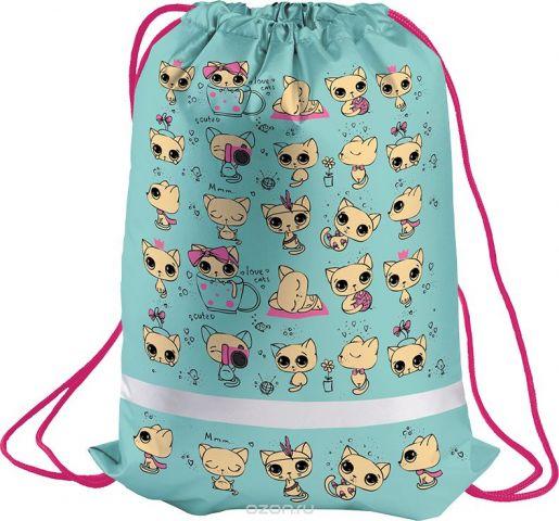 Berlingo Мешок для обуви Kittens цвет голубой