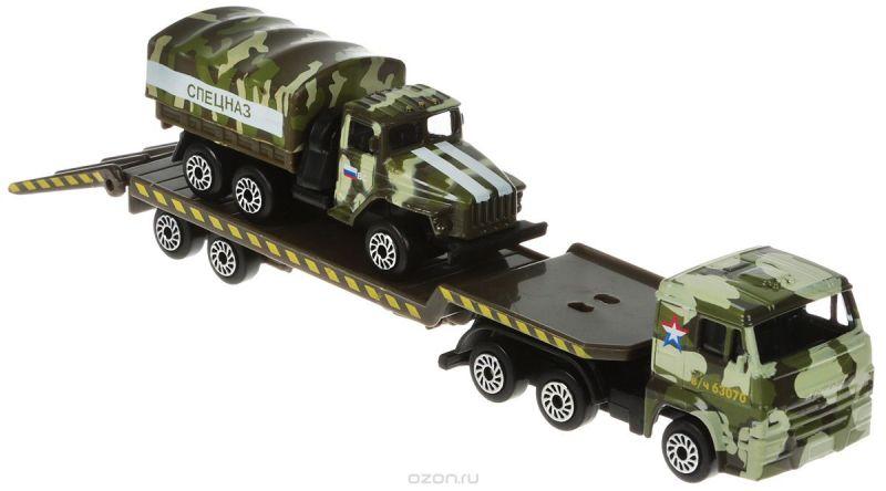ТехноПарк Набор машинок Транспортер КамАЗ с Уралом SB-15-04-4-WB