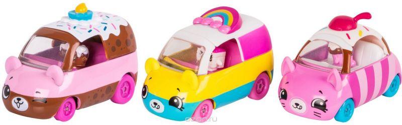 Moose Игровой набор Cutie Cars 3 машинки с мини-фигурками Shopkins 56644