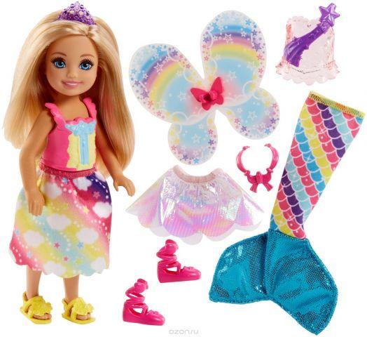 Barbie Кукла Челси фея русалка