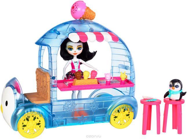 Enchantimals Игровой набор с куклой Фургончик мороженого Прины Пингвины