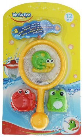 BebeLino Набор игрушек для ванной Рыбалка с сачком цвет сачка желтый