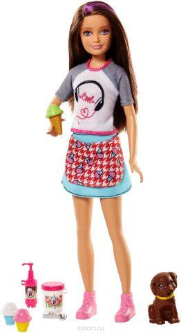 Barbie Игровой набор с куклой Сестра и щенки