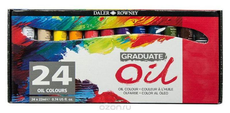 Daler Rowney Набор масляных красок Graduate 24 цвета 22 мл