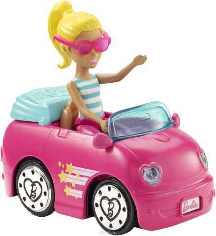 Barbie Игровой набор с куклой В движении Автомобиль и кукла FHV76_FHV77