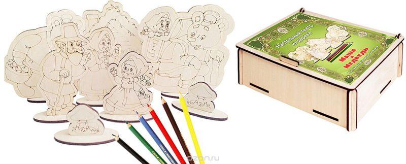Фабрика Мастер игрушек Настольный театр Театр-раскраска Маша и Медведь