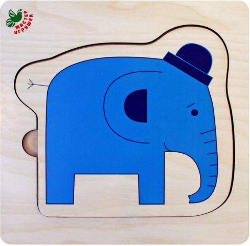 Фабрика Мастер игрушек Рамка-вкладыш Слоники