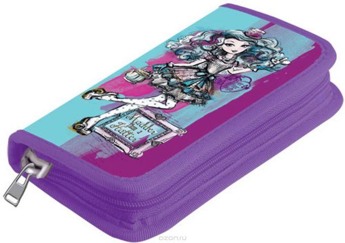 Mattel Пенал с наполнением Ever After High 9 предметов цвет фиолетовый голубой