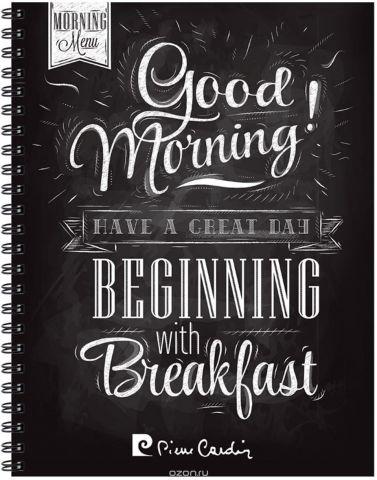 Pierre Cardin Тетрадь Good Morning 80 листов цвет черный формат A5