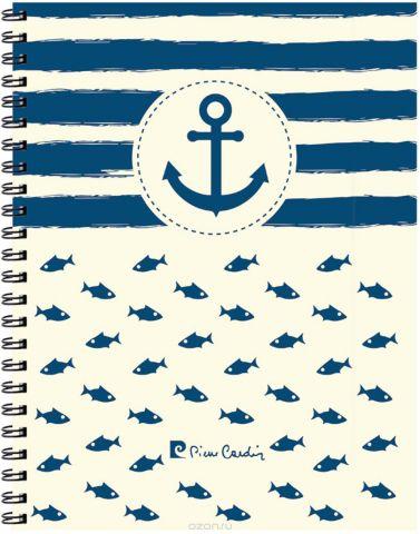 Pierre Cardin Тетрадь More 120 листов в клетку цвет голубой белый формат A4