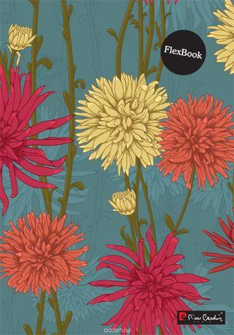 Pierre Cardin Тетрадь Flora 80 листов в клетку цвет оранжевый зеленый желтый розовый формат A4