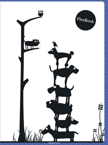 Expert Complete Тетрадь Animals 80 листов в клетку цвет белый черный синий формат A4