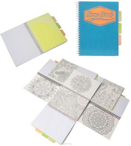 Expert Complete Тетрадь Neon Book 120 листов в клетку цвет синий формат A5