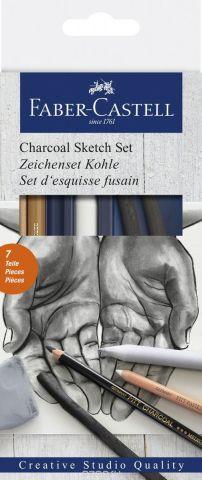 Faber-Castell Набор для рисования Уголь 7 предметов