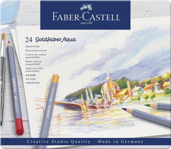 Faber-Castell Набор цветных акварельных карандашей Goldfaber Aqua 24 цветов