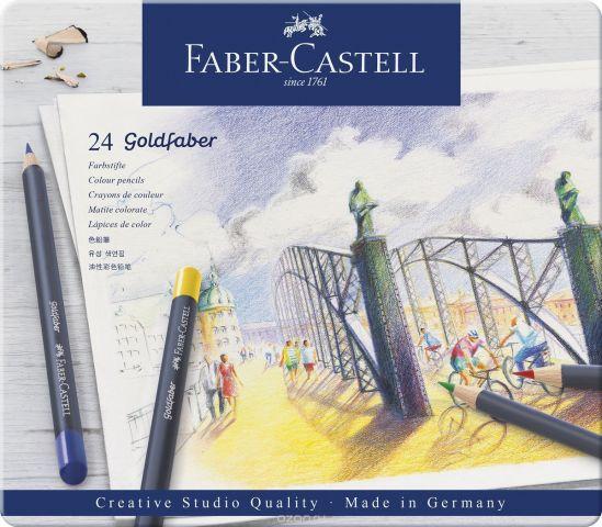 Faber-Castell Набор цветных карандашей Goldfaber 24 цветов