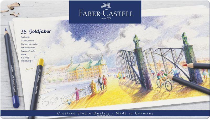 Faber-Castell Набор цветных карандашей Goldfaber 36 цветов