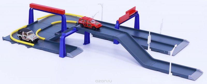 Pioneer Toys Набор машин с гаражом Road Set 3