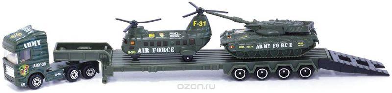 Pioneer Toys Набор военной техники на трейлере
