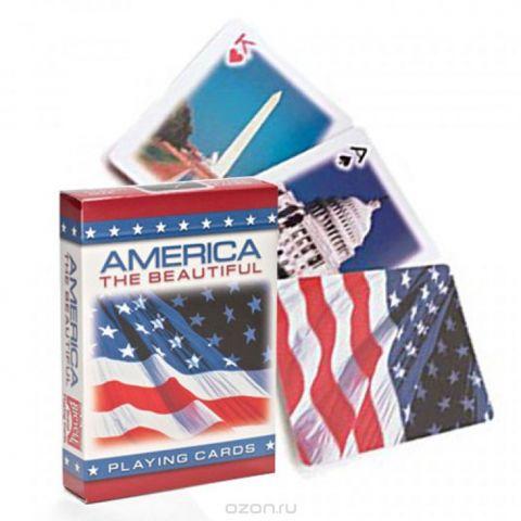 """Карты игральные """"Bicycle. Американский флаг"""". К-844"""