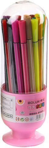 Набор фломастеров Вазочка цвет упаковки розовый 36 шт