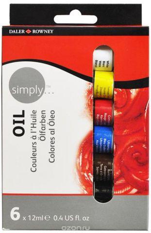 Daler Rowney Набор масляных красок Simply 6 цветов 12 мл