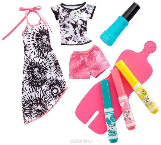 Barbie Игровой набор Crayola Сделай моду сам цвет бирюзовый розовый желтый
