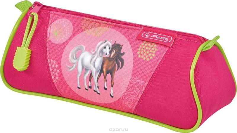 Herlitz Пенал-косметичка TRIANGULAR Spring Horses