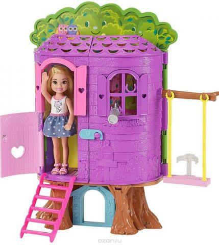 Barbie Игровой набор с куклой Домик на дереве Челси