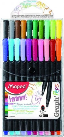 Maped Ручка капиллярных ручек Graph Peps 20 цветов